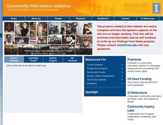 Main page screenshot of cii.uiuc.edu