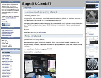 Main page screenshot of blogs.ugidotnet.org