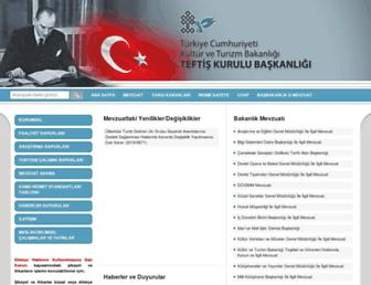 teftis.kulturturizm.gov.tr screenshot