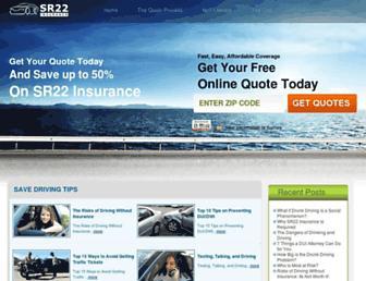 sr22insurance.net screenshot