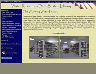 library.wrds.uwyo.edu screenshot