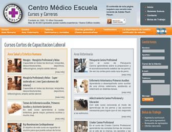 centromedicoescuela.com.ar screenshot