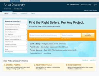 discovery.ariba.com screenshot