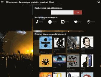 allformusic.fr screenshot