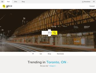 Main page screenshot of yellowpages.ca