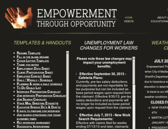 empowermentthroughopportunity.com screenshot