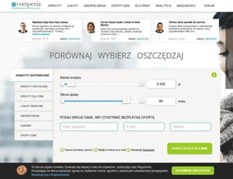 Main page screenshot of comperia.pl