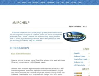 mirchelp-undernet.org screenshot