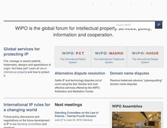 Thumbshot of Wipo.int