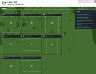 Main page screenshot of galleria.limingantaidekoulu.fi