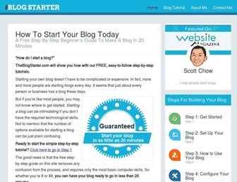 theblogstarter.com screenshot