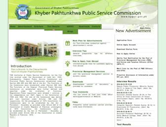 kppsc.gov.pk screenshot