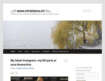 christiano.ch screenshot