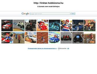 Main page screenshot of linktar.hobbizona.hu