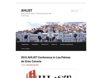 Main page screenshot of ahlist.org