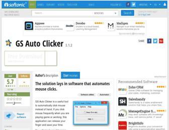 gs-auto-clicker.en.softonic.com screenshot
