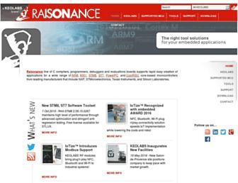 raisonance.com screenshot