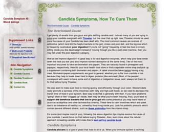 Main page screenshot of candidasymptoms.net