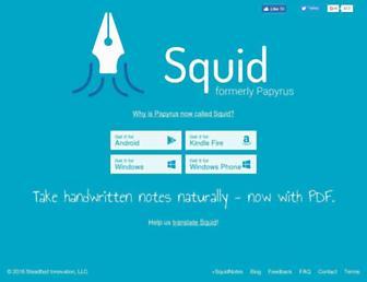 squidnotes.com screenshot