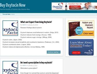 buyoxytocinnow.com screenshot
