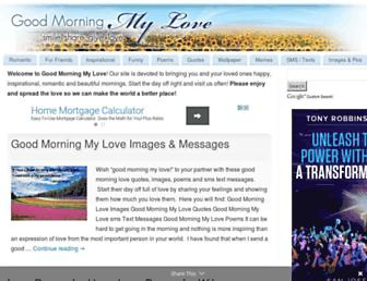 goodmorningmylove.com screenshot