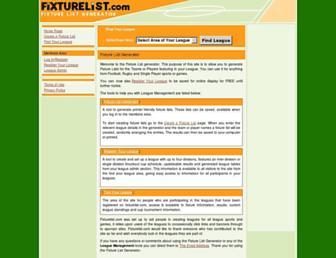 fixturelist.com screenshot