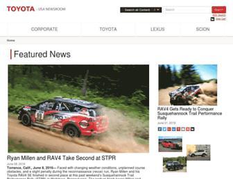toyotanews.pressroom.toyota.com screenshot