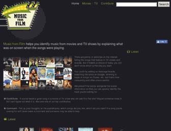 musicfromfilm.com screenshot