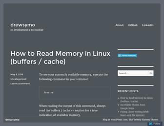 drewsymo.com screenshot