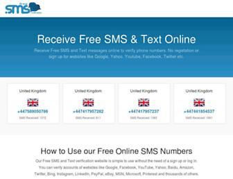 freesmsverifications.com screenshot