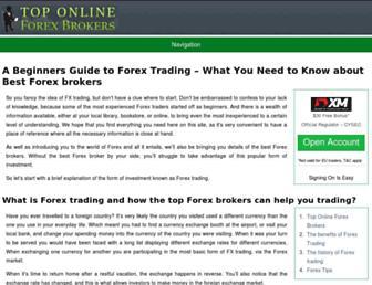 toponlineforexbrokers.com screenshot