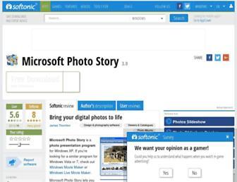 microsoft-photo-story.en.softonic.com screenshot