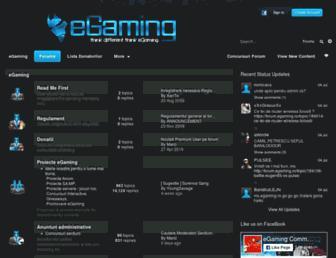forum.egaming.ro screenshot