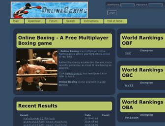 onlineboxing.net screenshot