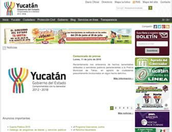 Main page screenshot of yucatan.gob.mx