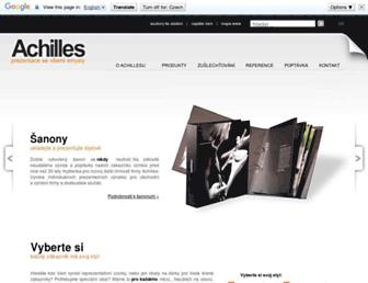 Main page screenshot of achilles.cz