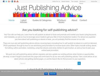 justpublishingadvice.com screenshot