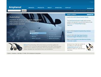 amphenol.com screenshot