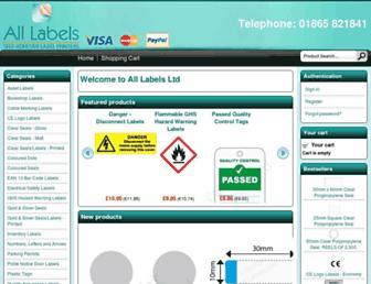 all-labels.biz screenshot