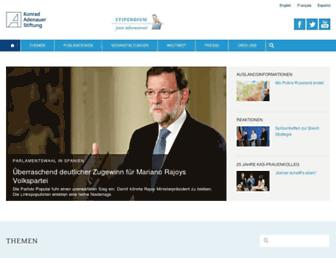 Main page screenshot of kas.de