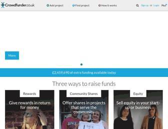 crowdfunder.co.uk screenshot