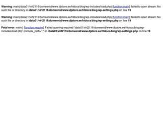 Main page screenshot of blog.djstore.ee