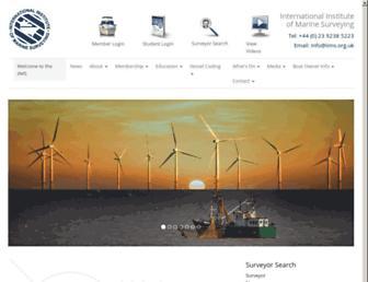 Main page screenshot of iims.org.uk