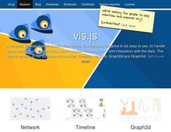 visjs.org screenshot