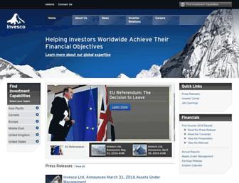 invesco.com screenshot