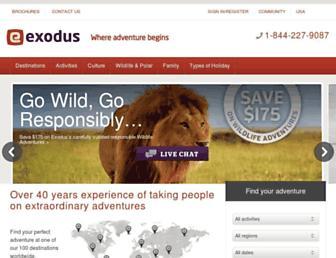 exodus.co.uk screenshot