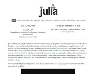 Thumbshot of Julialang.org