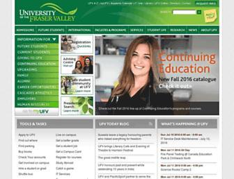 Thumbshot of Ufv.ca