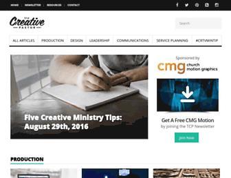 thecreativepastor.com screenshot
