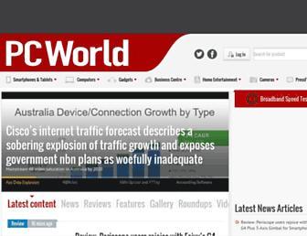 Main page screenshot of pcworld.co.nz